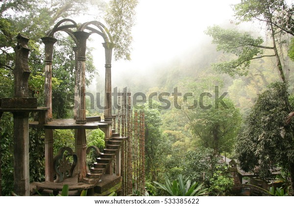 Las Pozas, a surrealist botanical garden in Xilitla Mexico by Edward James