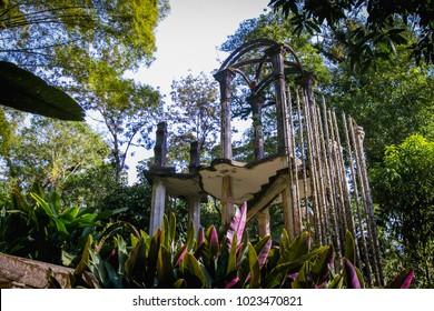 Las Pozas (The Pools) Surrealist botanical garden at Xilitla, San Luis Potosí, México. High Contrast edition.