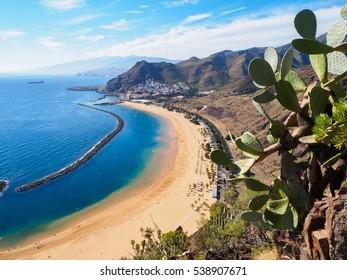 Las Teresitas beach on Tenerife, Spain