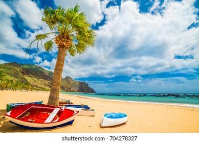 Las teresitas beach in Tenerife, Canary Islands, Spain