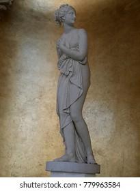 LAS VEGAS, NEVADA—APRIL 2017:  Sculpture of Venus de Canova, goddess of love and beauty displayed outside the entrance of Caesars Palace in Las Vegas, Nevada.