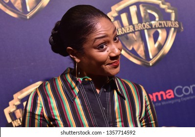 LAS VEGAS - APR 02:  Tiffany Haddish arrives for the CinemaCon 2019 - Warner Brothers Presentation on April 02, 2019 in Las Vegas, NV