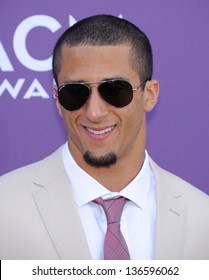 LAS VEGAS - APR 07:  Colin Kaepernick arrives to the Academy of Country Music Awards 2013  on April 07, 2013 in Las Vegas, NV.