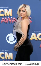 LAS VEGAS - APR 15:  Bebe Rexha at the Academy of Country Music Awards 2018 at MGM Grand Garden Arena on April 15, 2018 in Las Vegas, NV