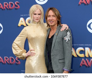 LAS VEGAS - APR 15:  Nicole Kidman, Keith Urban at the Academy of Country Music Awards 2018 at MGM Grand Garden Arena on April 15, 2018 in Las Vegas, NV
