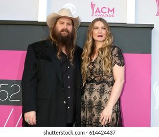 LAS VEGAS - APR 2:  Chris Stapleton, Morgane Stapleton at the Academy of Country Music Awards 2017 at T-Mobile Arena on April 2, 2017 in Las Vegas, NV