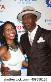 LAS VEGAS - APR 21:  Shahidah Omar, J. B. Smoove at the Keep It Clean Comedy Benefit For Waterkeeper at the Avalon Hollywood on April 21, 2016 in Los Angeles, CA