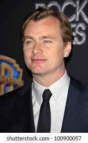 LAS VEGAS - APR 24: Christopher Nolan at a WB presentation at Caesars Palace during CinemaCon, the convention of the National Association of Theatre Owners, April 24, 2012 in Las Vegas, Nevada