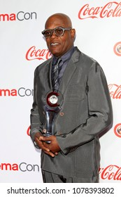 LAS VEGAS - APR 26:  Samuel L Jackson at the 2018 CinemaCon - Awards Gala at Caesars Palace on April 26, 2018 in Las Vegas, NV