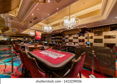 Las Vegas, APR 28: Interior view of the famous Bellagio Hotel and Casino on APR 28, 2019 at Las Vegas, Nevada