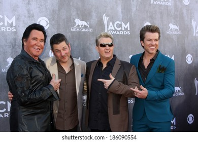 LAS VEGAS - APR 6:  Wayne Newton, Rascal Flatts at the 2014 Academy of Country Music Awards - Arrivals at MGM Grand Garden Arena on April 6, 2014 in Las Vegas, NV