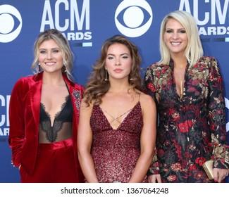 LAS VEGAS - APR 7:  Hannah Mullholland, Naomi Cooke, Jennifer Wayne, Runaway June at the 54th Academy of Country Music Awards at the MGM Grand Garden Arena on April 7, 2019 in Las Vegas, NV
