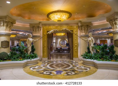LAS VEGAS - April 13 : The Caesars Palace interior on April 13, 2016 in Las Vegas. Caesars Palace is a luxury hotel and casino located on the Las Vegas Strip. Caesars has 3,348 rooms in five towers
