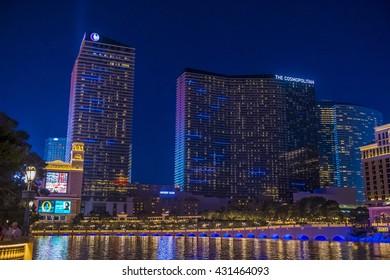 LAS VEGAS - APRIL 13 : The Cosmopolitan hotel in Las Vegas on April 13 2016. The Cosmopolitan opened in 2010 and it has 2,995 rooms and 75,000 sq ft casino.