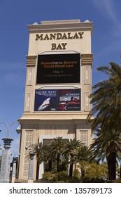 LAS VEGAS - APRIL 19: Mandalay Bay on April 19, 2013  in Las Vegas. Mayweather verses Guerrero at the Mandalay Bay hotel on May 4th, 2013.