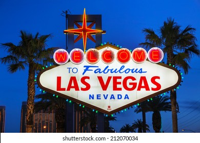 LAS VEGAS - APRIL 19: Welcome to Fabulous Las Vegas sign on April 19, 2014 in Las Vegas, Nevada. It's a Las Vegas landmark funded in May 1959 and erected soon after by Western Neon