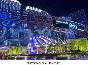 LAS VEGAS - AUG 26 :The Aria Resort and Casino in Las Vegas on August 26 2013. The Aria is a luxury resort and casino opened on 2009 and is the world's largest hotel to receive LEED Gold certification