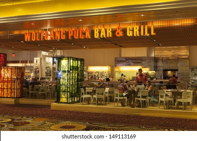 LAS VEGAS - AUGUST 06, 2013 - MGM on August 06, 2013  in Las Vegas. Wolfgang Puck bar and grill, headed by chef Scott Irestone  is one of 19 restaurants in the MGM grand.