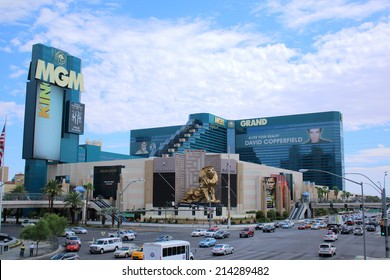 LAS VEGAS - AUGUST 11, 2014: MGM Grand Hotel & Casino in Las Vegas, on August 11, 2014. It's the second largest hotel in the world by number of rooms and the largest hotel resort complex in USA.