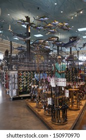 LAS VEGAS - AUGUST 20, 2013 - Bass Pro Shops on August 20, 2013  in Las Vegas. Bass Pro shops incorporated in 1972 and soon after started a mail order catalog business.