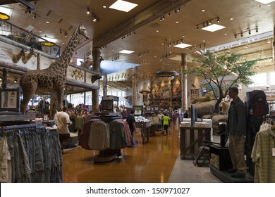 LAS VEGAS - AUGUST 20, 2013 - Bass Pro Shops on August 20, 2013  in Las Vegas. Bass pro was started by John L. Morris in Springfield Missouri at the back of a Brown Derby liquor store.