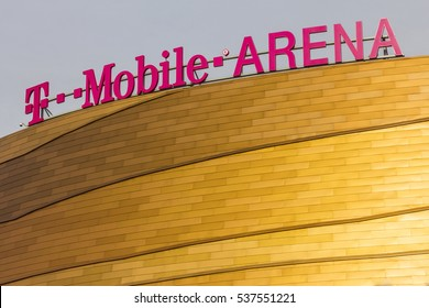 Las Vegas - Circa December 2016: The T-Mobile Arena Located on the Strip. T-Mobile Arena will be the home of the NHL's Golden Knights I