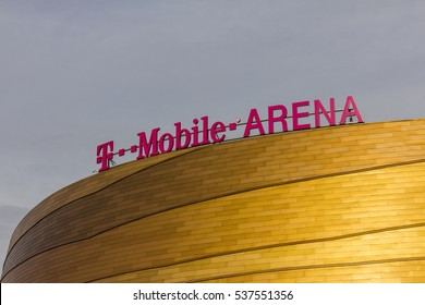 Las Vegas - Circa December 2016: The T-Mobile Arena Located on the Strip. T-Mobile Arena will be the home of the NHL's Golden Knights II