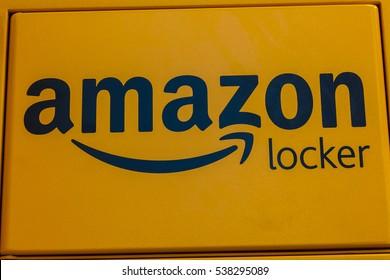 Las Vegas - Circa December 2016: Amazon Locker Location. Amazon Locker is a self-service parcel delivery service offered by Amazon.com IV