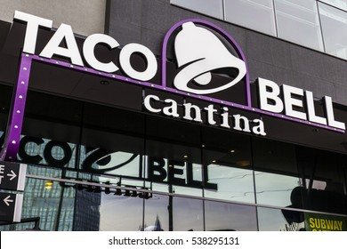 Las Vegas - Circa December 2016: Taco Bell Cantina Location. The new Taco Bell Cantina features a DJ area, VIP lounge, and upscale menu III