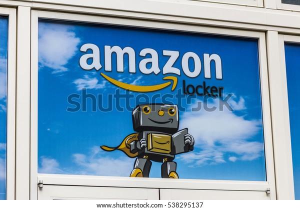 Las Vegas - Circa December 2016: Amazon Locker Location. Amazon Locker is a self-service parcel delivery service offered by Amazon.com V