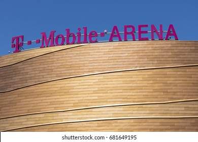 Las Vegas - Circa July 2017: The T-Mobile Arena Located on the Strip. T-Mobile Arena will be the home of the NHL's Golden Knights