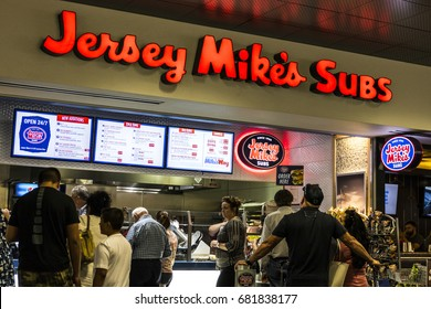 Las Vegas - Circa July 2017: Jersey Mike's Subs Fast Food Restaurant. Jersey Mike's Subs is a submarine sandwich chain headquartered in New Jersey II