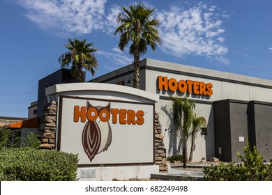 Las Vegas - Circa July 2017: Hooters Dine In Restaurant Location. Hooters operates and franchises over 430 locations III