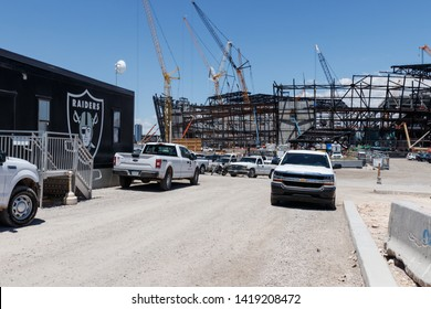 Las Vegas - Circa June 2019: Las Vegas Stadium under construction and will host the NFL Raiders and the UNLV Rebels football teams II