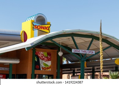 Las Vegas - Circa June 2019: Sonic Drive-In Fast Food Location. Sonic is a Drive-In Restaurant Chain I