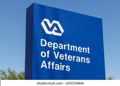 Las Vegas - Circa June 2019: Veterans Affairs signage and logo. The VA provides healthcare services to military veterans IV