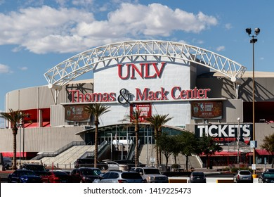 Las Vegas - Circa June 2019: Thomas and Mack Center at the University of Nevada at Las Vegas. UNLV offers more than 350 degrees in varying fields III