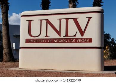 Las Vegas - Circa June 2019: University of Nevada at Las Vegas. UNLV offers more than 350 degrees in varying fields I