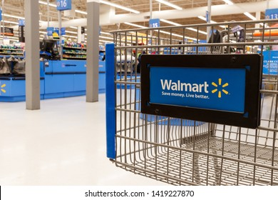 Las Vegas - Circa June 2019: Walmart Retail Location. Walmart is boosting its internet and ecommerce presence to keep up with competitors VI