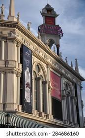 LAS VEGAS - CIRCA MAY 2012 : The Madame Tussauds museum in Las Vegas. The two-floor 30,000-square-foot museum has 100-plus wax replicas.