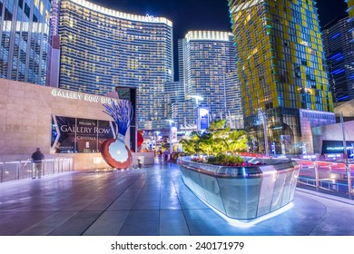 LAS VEGAS - DEC 08 : The Las Vegas City Center on December 08 2014. This mixed-use complex, 76 acres, opened 2010 and was the largest privately funded construction project in USA.