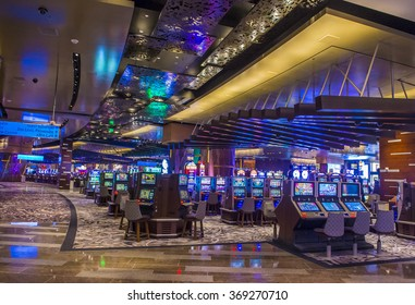 LAS VEGAS - DEC 18 : The interior of Aria Resort and Casino in Las Vegas on December 18 2015. The Aria was opened on 2009 and is the world's largest hotel to receive LEED Gold certification