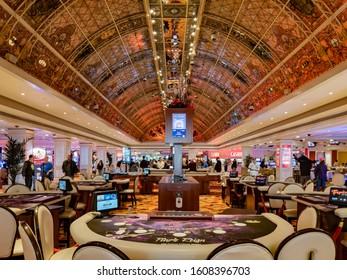 Las Vegas, DEC 28: Interior view of the famous Tropicana Casino on DEC 28, 2019 at Las Vegas, Nevada