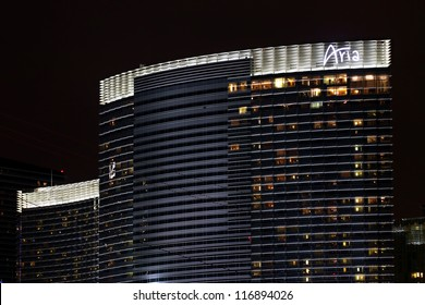 LAS VEGAS - DECEMBER 03: The Aria Resort and Casino on December 03, 2011 in Las Vegas. The Aria opened in 2009 and is the largest building of the CityCenter Complex on the Las Vegas Strip.