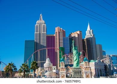 Las Vegas - DECEMBER 13, 2013: Las Vegas Casinos on December 13