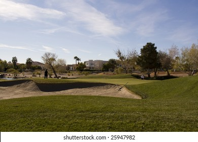 Las Vegas Desert Golf Course Hazard
