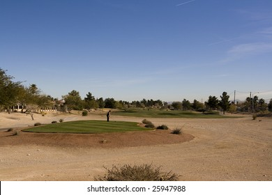Las Vegas Desert Golf Course Tee Box