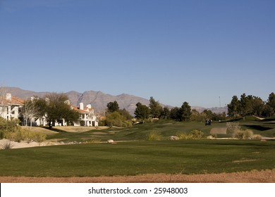 Las Vegas Desert Golf Course Fairway