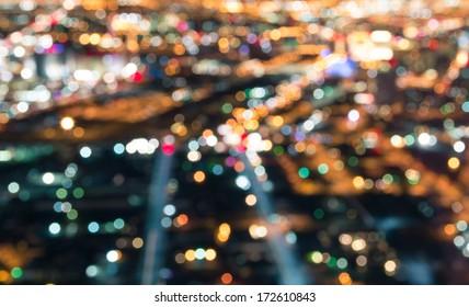 Las Vegas Downtown - Defocused lights bokeh