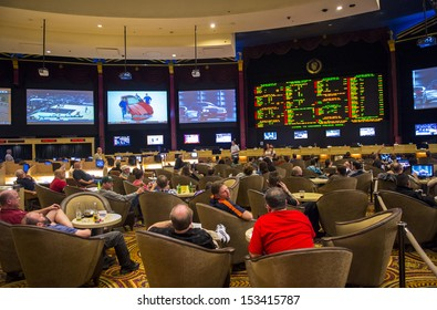 LAS VEGAS - FEB 03 :Sport betting at Caesar Palace on February 03, 2013 in Las Vegas. Caesars Palace is a luxury hotel and casino. Caesars has 3,348 rooms in five towers